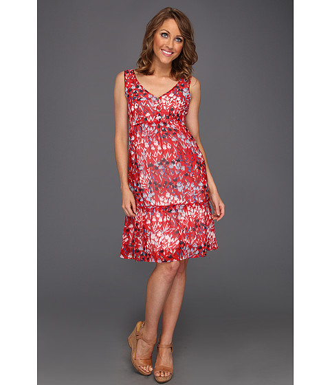 Rochii Christin Michaels - Terry Dress - Red Sea Multi
