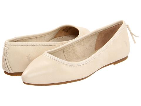 Balerini Frye - Regina Ballet - Off White Soft Vintage Leather
