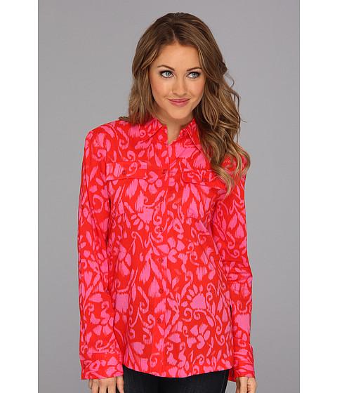 Tricouri Jones New York - Roll-Up Sleeve Shirt w/ Contrast - Dark Orange Blaze/Petal Pink