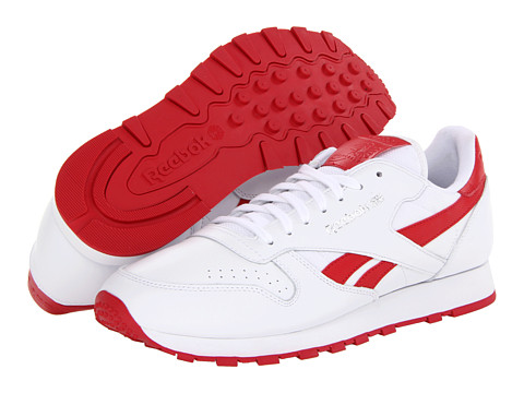 Adidasi Reebok - Classic Leather Pop - White/Excellent Red/Steel
