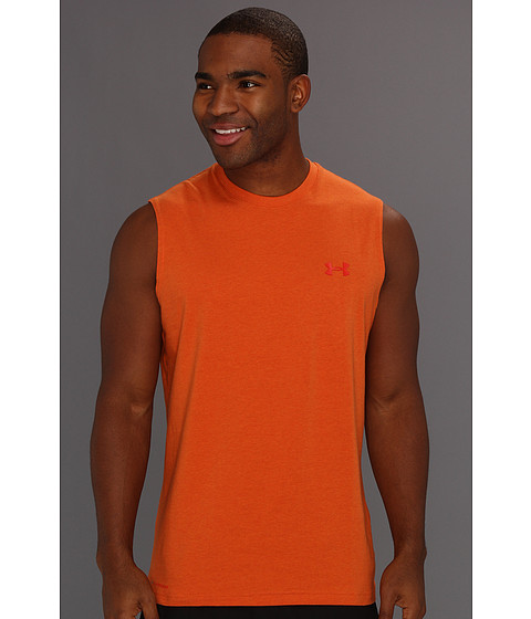 Tricouri Under Armour - Charged Cottonî S/L Tee - Vivid Heather/Scorched
