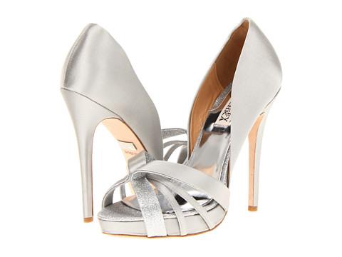 Pantofi Badgley Mischka - Cherise - Light Grey Satin/Glitter
