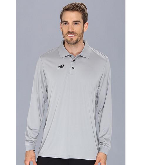 Bluze New Balance - Team L/S Polo Shirt - Light Grey