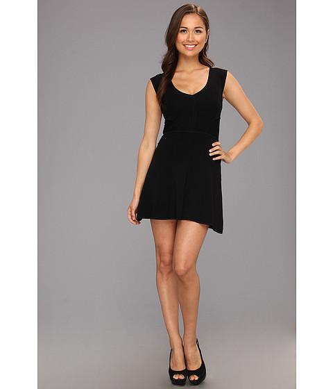 Rochii French Connection - Downtown Dani Cap Sleeve Dress - Black