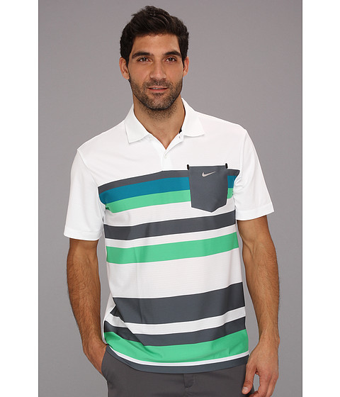 Tricouri Nike - Fashion Stretch Stripe Polo - White