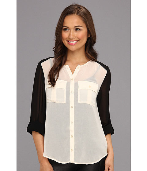 Bluze Sanctuary - Color Block Blouse - Ivory