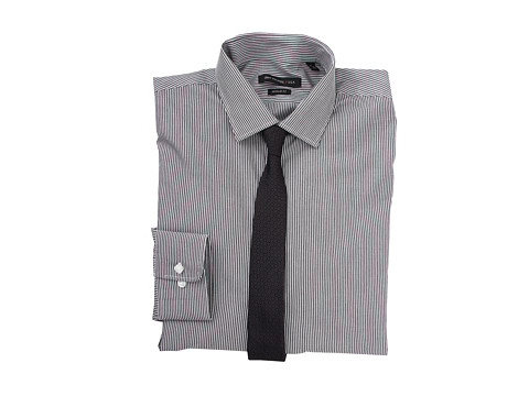 Camasi John Varvatos - Regular Fit Narrow Stripe Dress Shirt - Granite