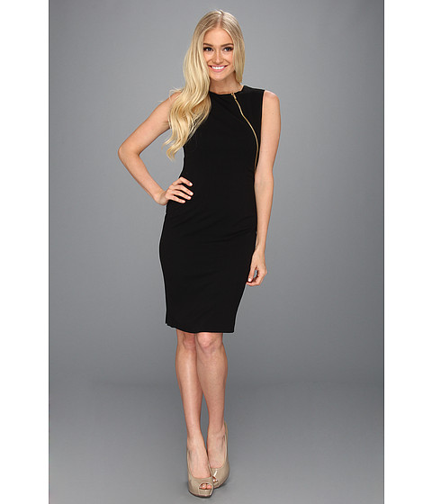 Rochii Calvin Klein - Exposed Zip Sheath Dress CD3X1B71 - Black