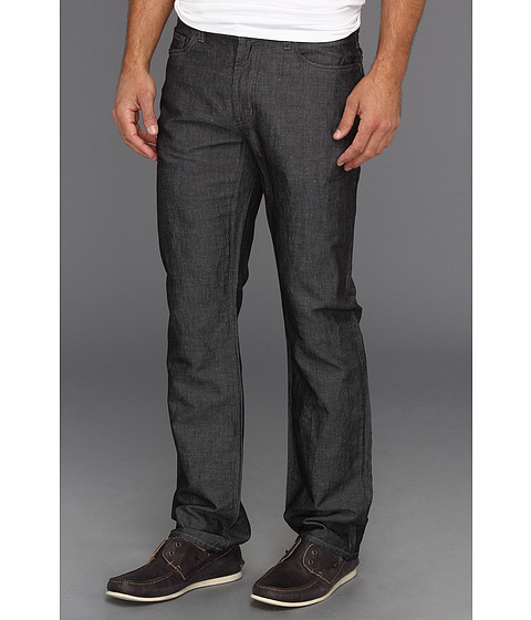 Blugi John Varvatos - Linen Blend Authentic Jean in Black - Black
