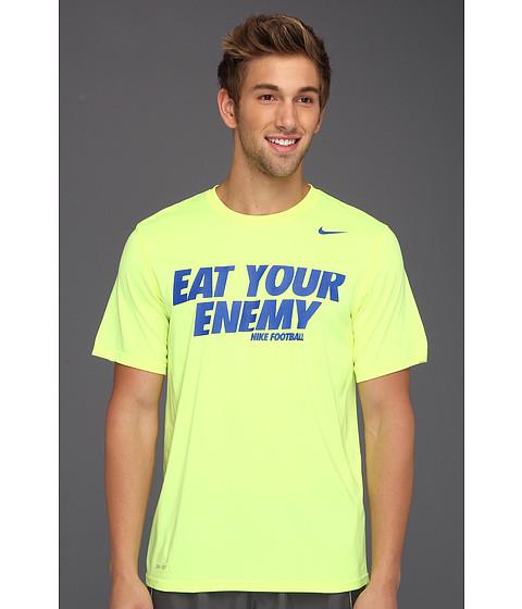 Tricouri Nike - Eat Your Enemy Legend S/S Tee - Volt/Dark Grey Heather