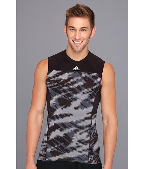 Tricouri adidas - Techfit Compression Sleeveless Tee Impact Sting Camo - Tech Grey/Black
