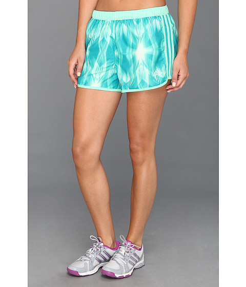 Pantaloni adidas - M10 Faster Graphic Short - Blast Emerald/Prism Mint