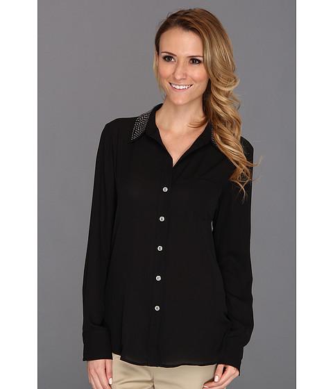 Bluze Karen Kane - Studded Silverlake Shirt - Black