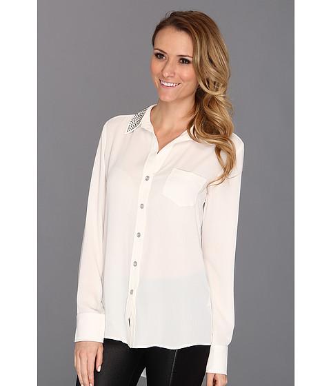 Bluze Karen Kane - Studded Silverlake Shirt - Cream