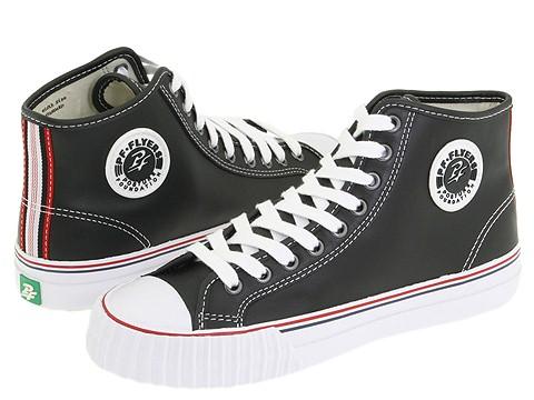 Adidasi PF Flyers - Center Hi - Premium Leather - Black