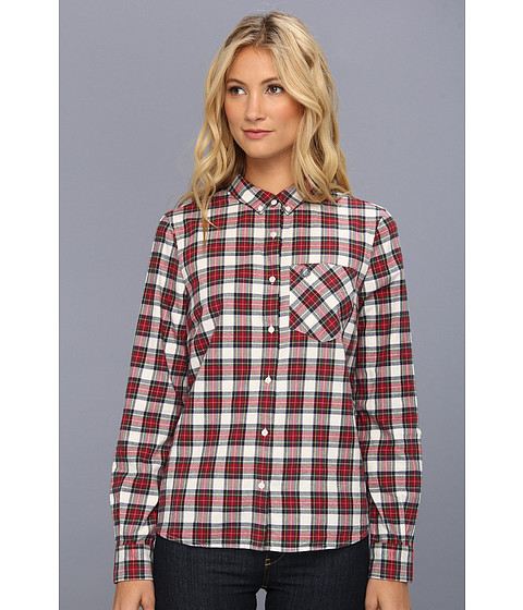 Camasi Fred Perry - Stuart Tartan L/S Shirt - Snow White