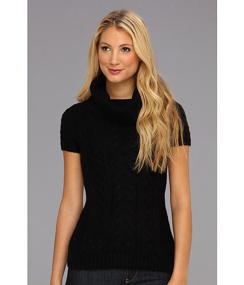 Bluze BCBGMAXAZRIA - Shawl Collar Sweater Sportswear Top - Black