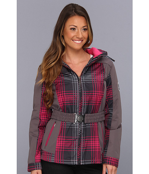 Geci dollhouse - Systems Fleece Lined Belted Jacket - Pink Tartan Plaid