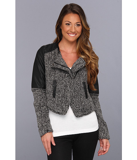 Jachete dollhouse - Nicole Tweed Bolero Jacket - Black/White