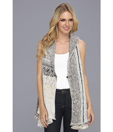 Tricouri Free People - In Your Arms Cardi Vest - White/Grey Combo