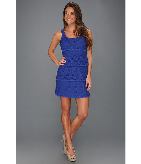 Rochii Laundry by Shelli Segal - Multi Tiered Lace Tank Dress - Jet Blue