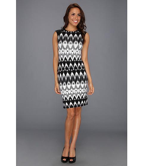 Rochii Karen Kane - Leather Shoulder Dress - Print