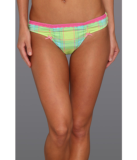 Lenjerie Betsey Johnson - Cotton Stretch Lo-Rise Thong 722556 - Picnic Basket Lily Pad