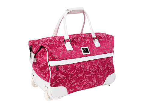 "Genti de voiaj Diane Von Furstenberg - Color On The Go - 20"" Wheeled City Bag - Fuchsia/White"