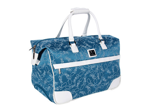 "Genti de voiaj Diane Von Furstenberg - Color On The Go - 20"" Wheeled City Bag - Teal/White"