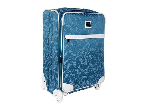 "Genti de voiaj Diane Von Furstenberg - Color On The Go - 24\"" Expandable Spinner Suitcase - Teal/White"