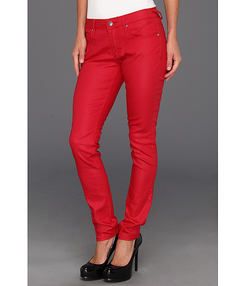 Blugi VIGOSS - Skinny Jagger Coated in Red - Red