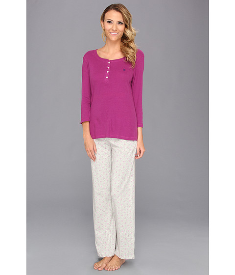 Lenjerie Tommy Hilfiger - Henley/Pant - Clover/Orchid Ditsy