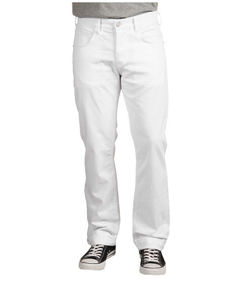Blugi Hudson - Byron 5-Pocket Straight Leg in White - White
