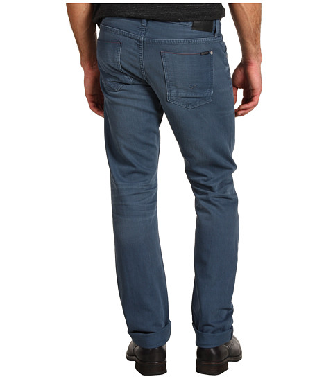 Blugi Hudson - Byron Selvage Straight in Steel Blue - Steel Blue