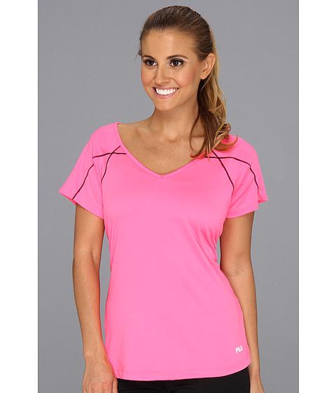 Tricouri Fila - Day Glo Cap Sleeve Top - Knockout Pink/Black