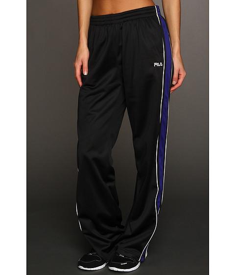 Pantaloni Fila - Chevron Poly Matte Tricot Pant - Black/Electric Indigo/White