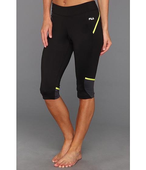 Pantaloni Fila - X Effect Block Party Tight Capri - Black/Ebony/Lime Punch