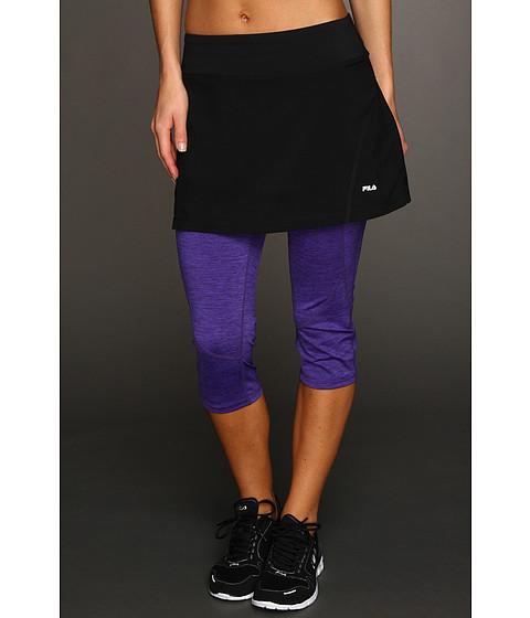 Fuste Fila - Toning Resistance Skort Capri - Black/Purple Rain