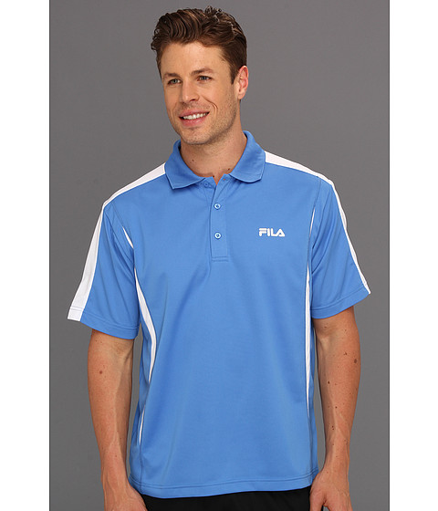 Tricouri Fila - Blocker Polo Shirt - Palace Blue/White