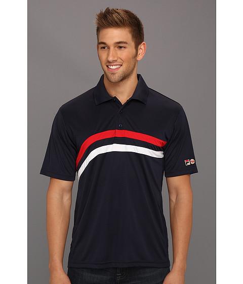 Tricouri Fila - Heritage Stripe Polo Shirt - Peacoat/White/Chinese Red