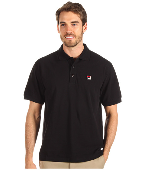 Tricouri Fila - Solid Pique Polo S/S Shirt - Black/Jester Red