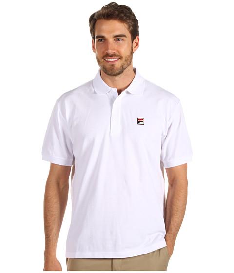 Tricouri Fila - Solid Pique Polo S/S Shirt - White/Platinum