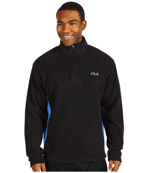 Hanorace Fila - 1/2 Zip Arctic Fleece - Black/Campanula Blue