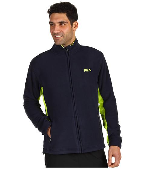 Hanorace Fila - Arctic Fleece Jacket - Peacoat/Lime Punch