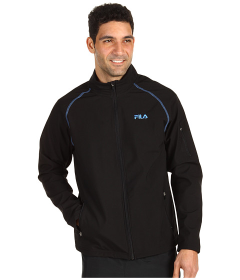 Hanorace Fila - Ascent Solid Bonded Jacket - Black/Campanula Blue