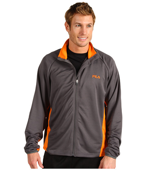 Hanorace Fila - Poly Performance Fleece Jacket - Castlerock/Orange Popsicle