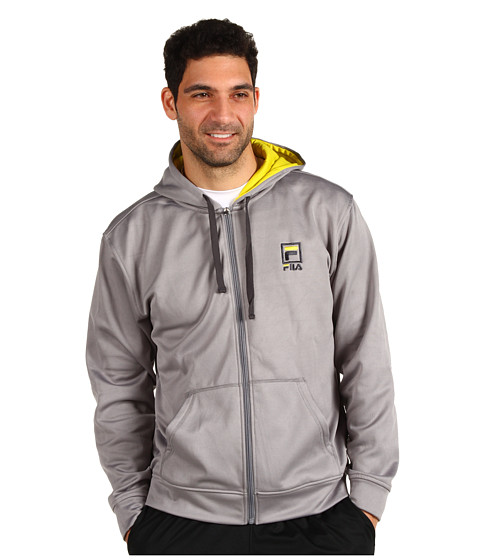 Hanorace Fila - Plaited Fleece Classic Hoodie - Monument/Empire Yellow/Ebony