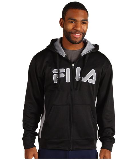 Hanorace Fila - Plaited Fleece Full Zip Hoodie - Black/Monument/White