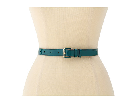 Curele Cole Haan - Enamel Hardware Belt - Pendant Teal Patent