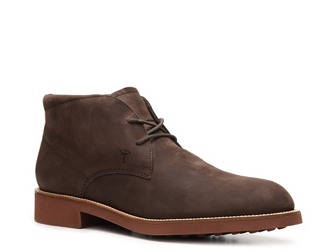 Ghete Tods - Tods Nubuck Leather Chukka Boot - Brown